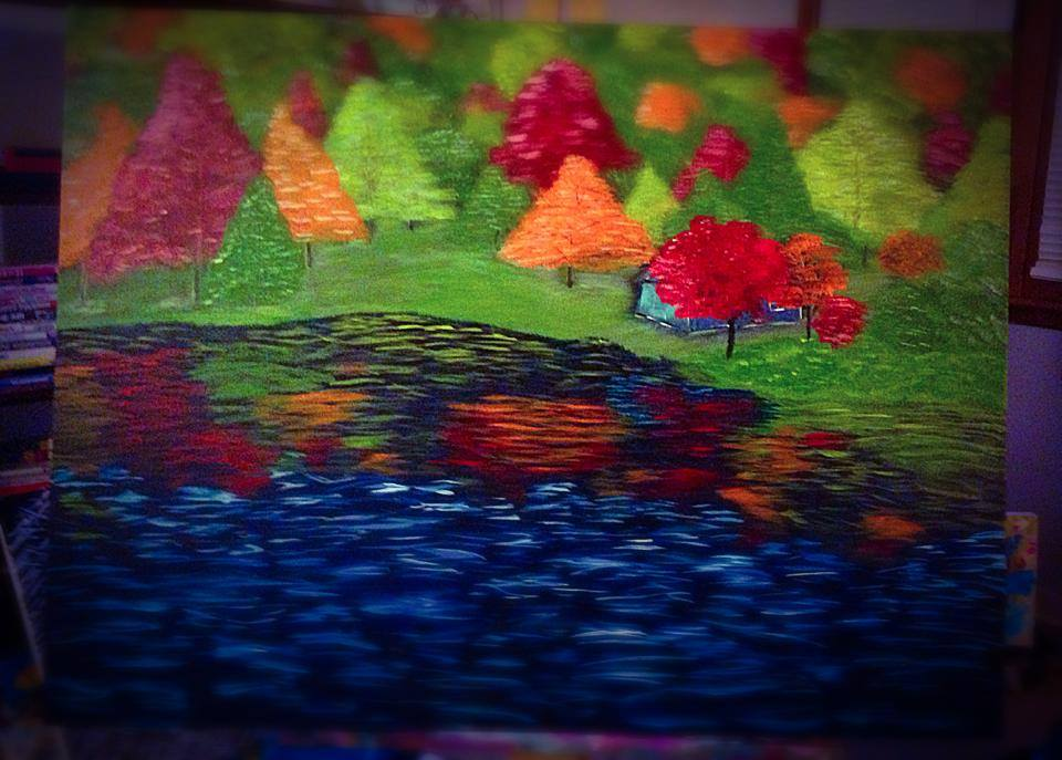 Painting Cabin by Pat Brown