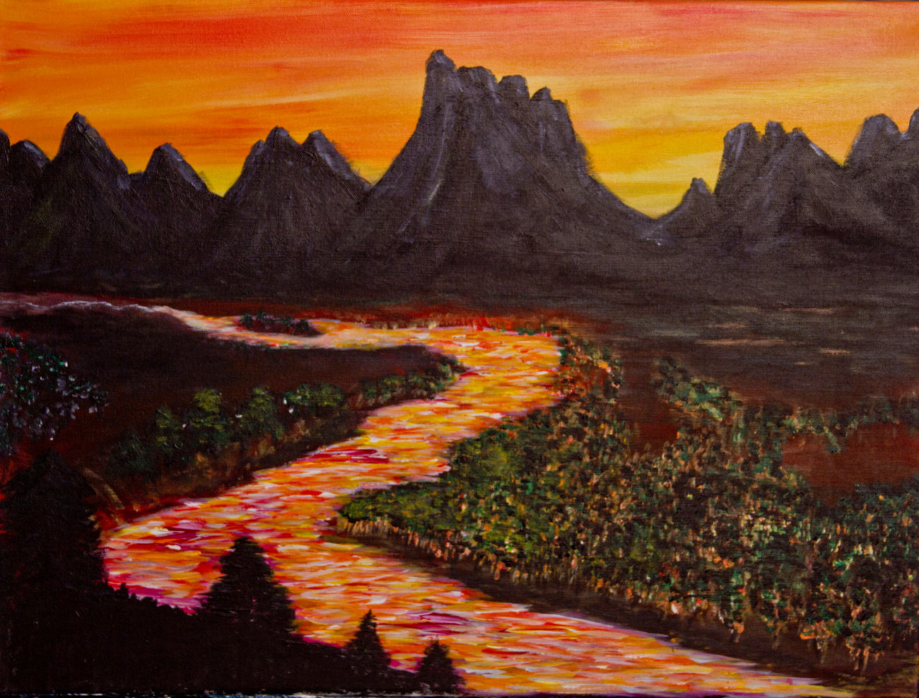 Painting Snake River by Pat Brown